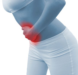 Acute pain in a woman belly
