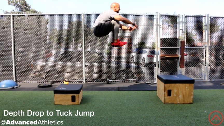Adam Friedman Advanced Athletics Depth Drop to Tuck Jump Exercise