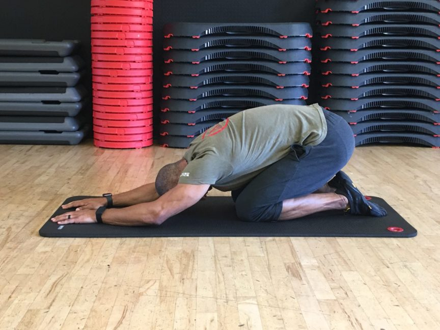 Adam Friedman Advanced Athletics Child Pose Breathing