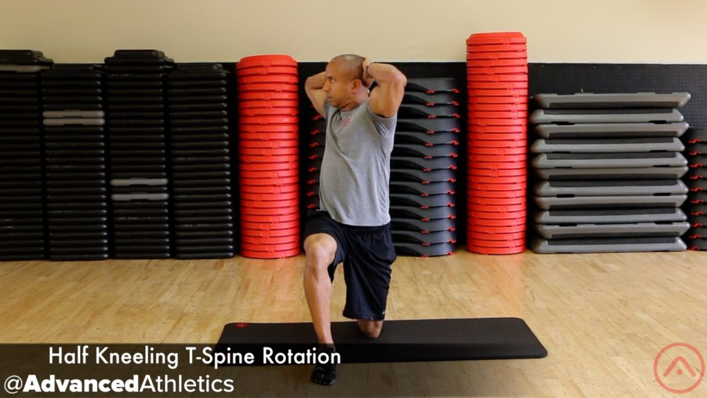 Adam Friedman Advanced Athletics Athlete For Life Half Kneeling T-Spine Rotation Stretch
