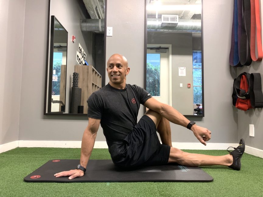 Adam Friedman Fitness Expert Advanced Athletics Athlete For Life Search and Rescue Mobility Hip Stretch