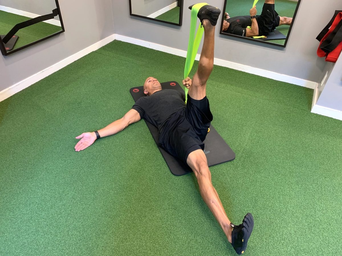 Adam Friedman Advanced Athletics Athlete For Life SARM Hamstring Stretch With Band for Mobility