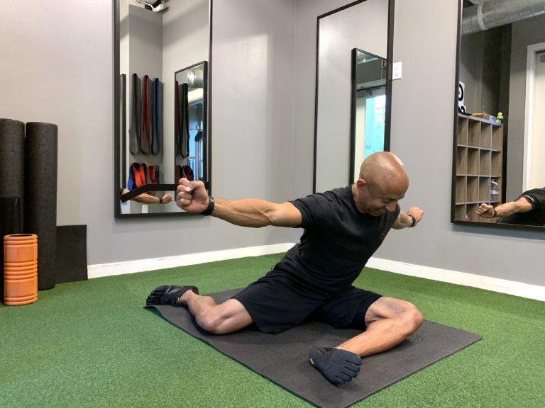 Adam Friedman Advanced Athletics Fitness Expert Hip Stretch